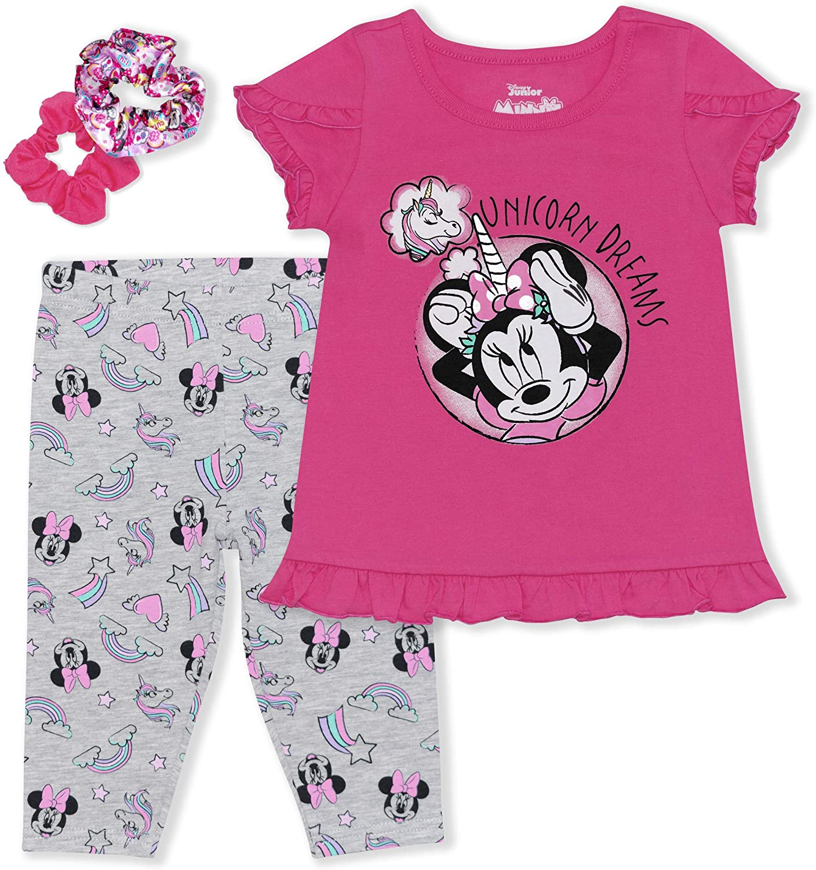 Minnie Unicorn Dreams Legging Set W/Ponytail Holders Pink