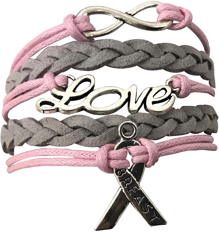 Cancer Awareness Pink Ribbon Bracelet, Faith Bracelet, Infinity Bracelet & Autism Awareness, Makes The