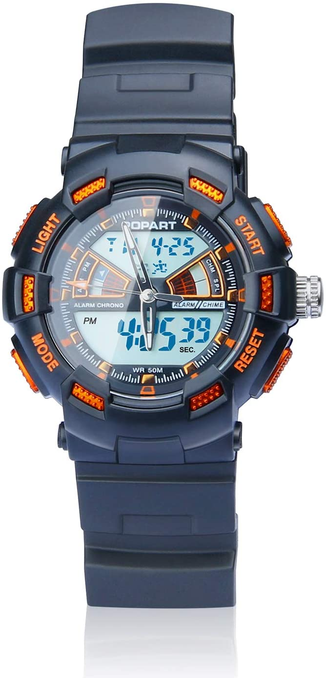 POPART LED 50M Waterproof Digital Sport Watches for Kids - Gifts for 5-13 Year Old Girls Boys