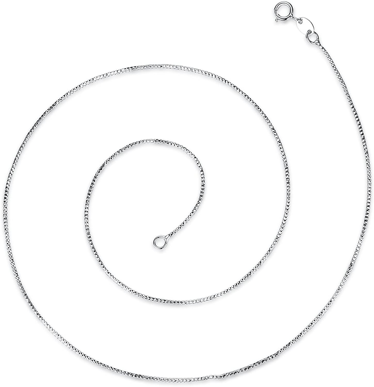 VIKI LYNN 925 Sterling Silver Geometric Snake Chain 18 inches