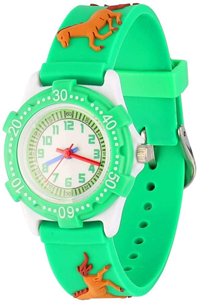 3D Cartoon Kid Watch for Little Kids Boys Girls,Waterproof Silicone Wristwatch Toddler Analog Watch