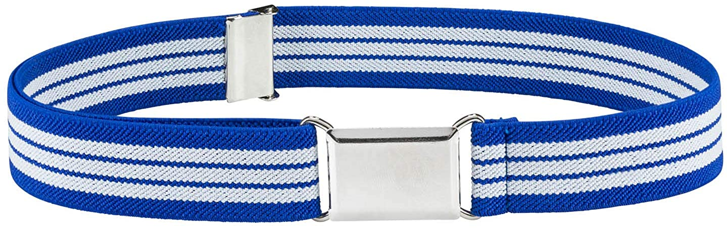"""HOLD'EM Kids Belts for Boys Silver Square Buckle 1"""" Elastic Toddler Girl Belt"""