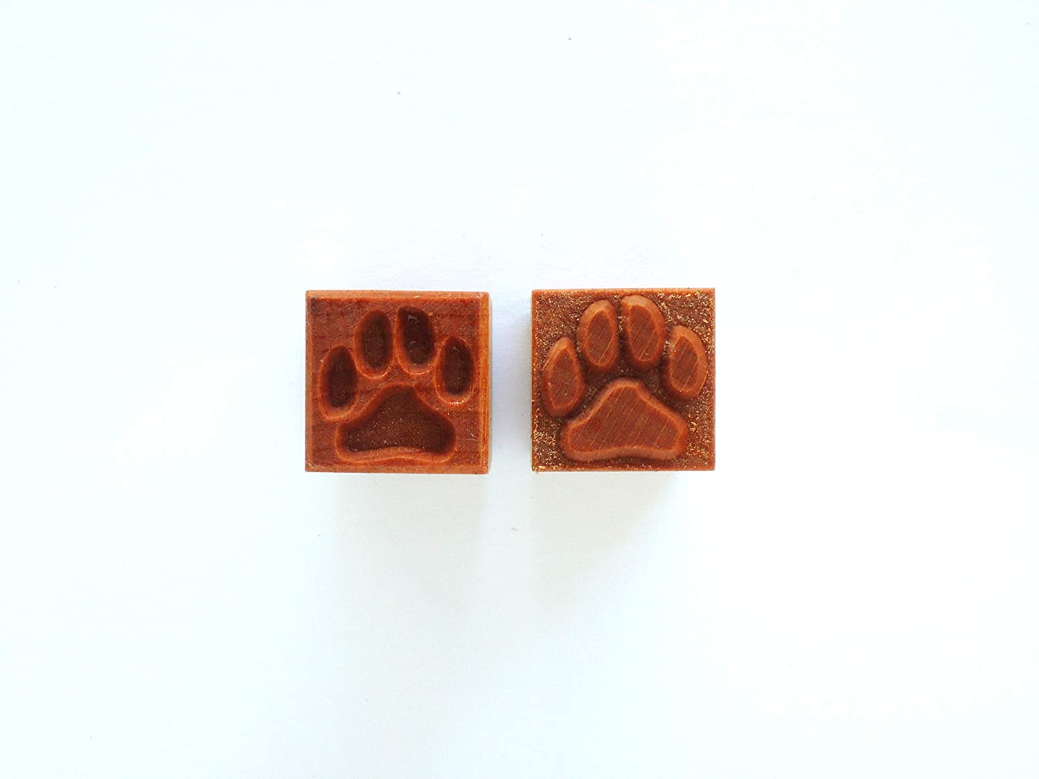 MKM Pottery Tools Stamps 4 Clay Medium Square Decorative Stamp for Clay (Ssm-144 Dog Paw)