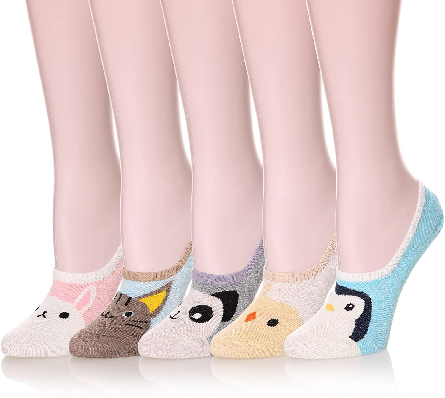 Color City Womens Novelty Cute Funny Ankle Socks - Cartoon Animal No Show Low Cut Socks