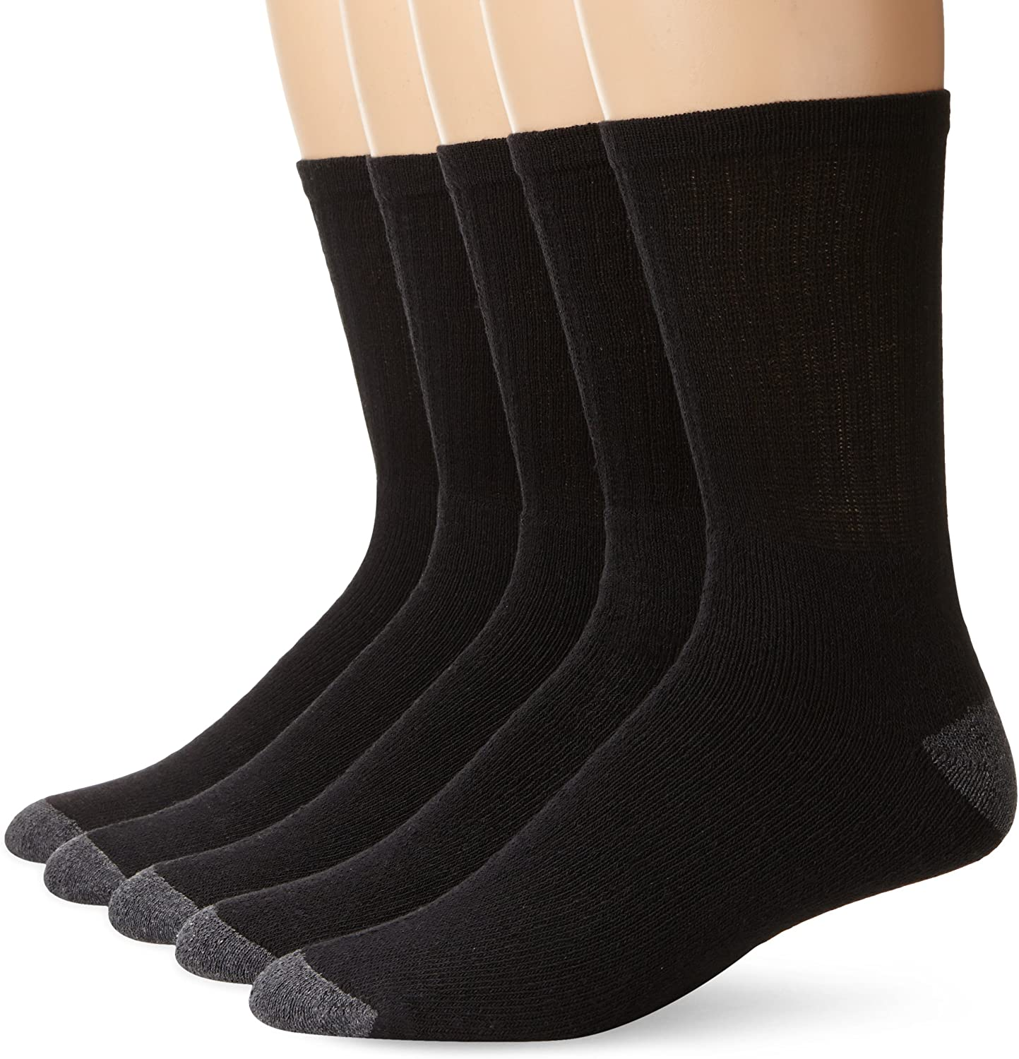 Stanley Black and Decker Men's 5 Pack Mid Weight Crew Work Socks