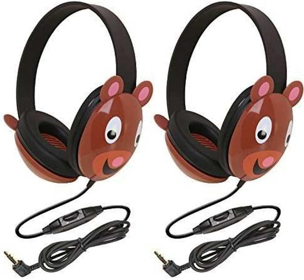 Califone 2810-BE Listening First Stereo Headphone, Bear Motif - Pack of 2