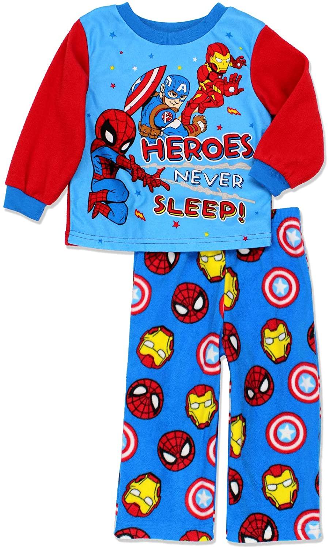 Marvel Super Hero Adventures Toddler Boys Long Sleeve Fleece Pajamas Set