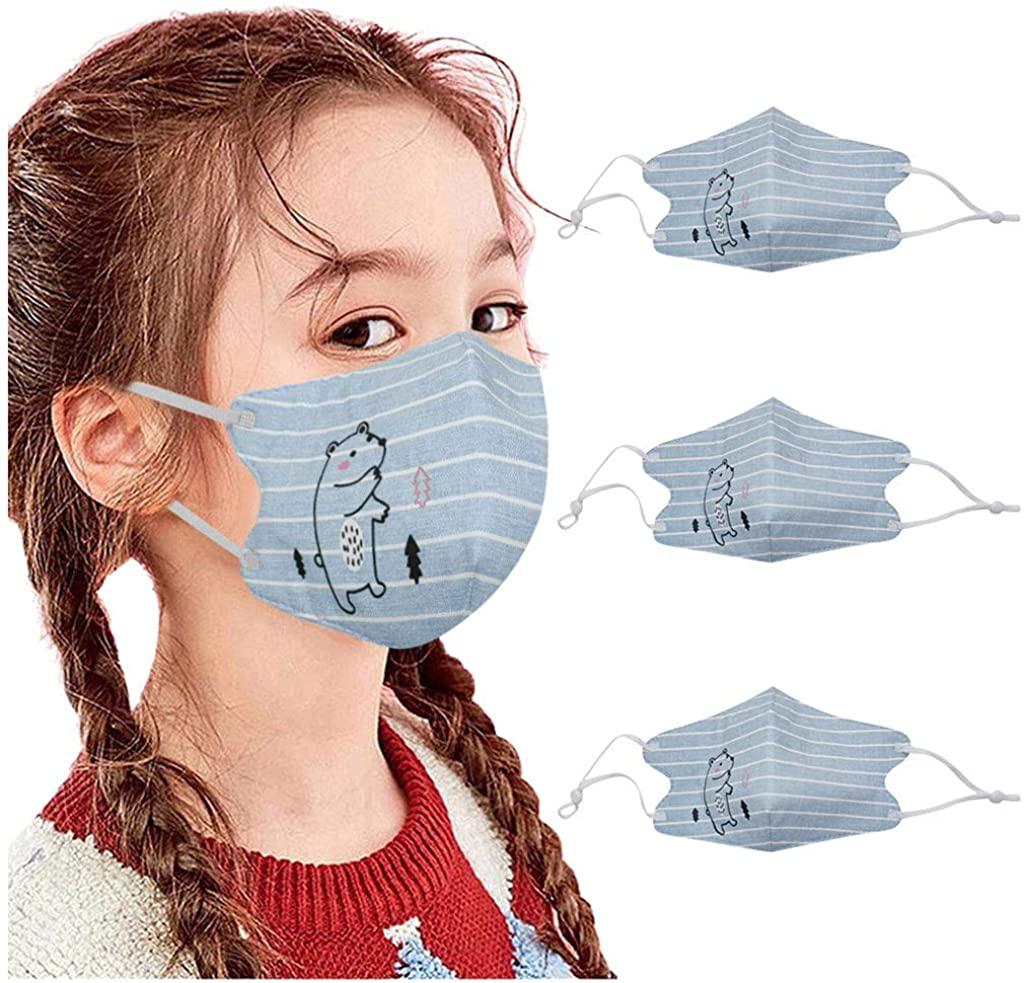 3PC Child Kids Reusable Face_Mask Windproof Bandana Outdoor Cycling