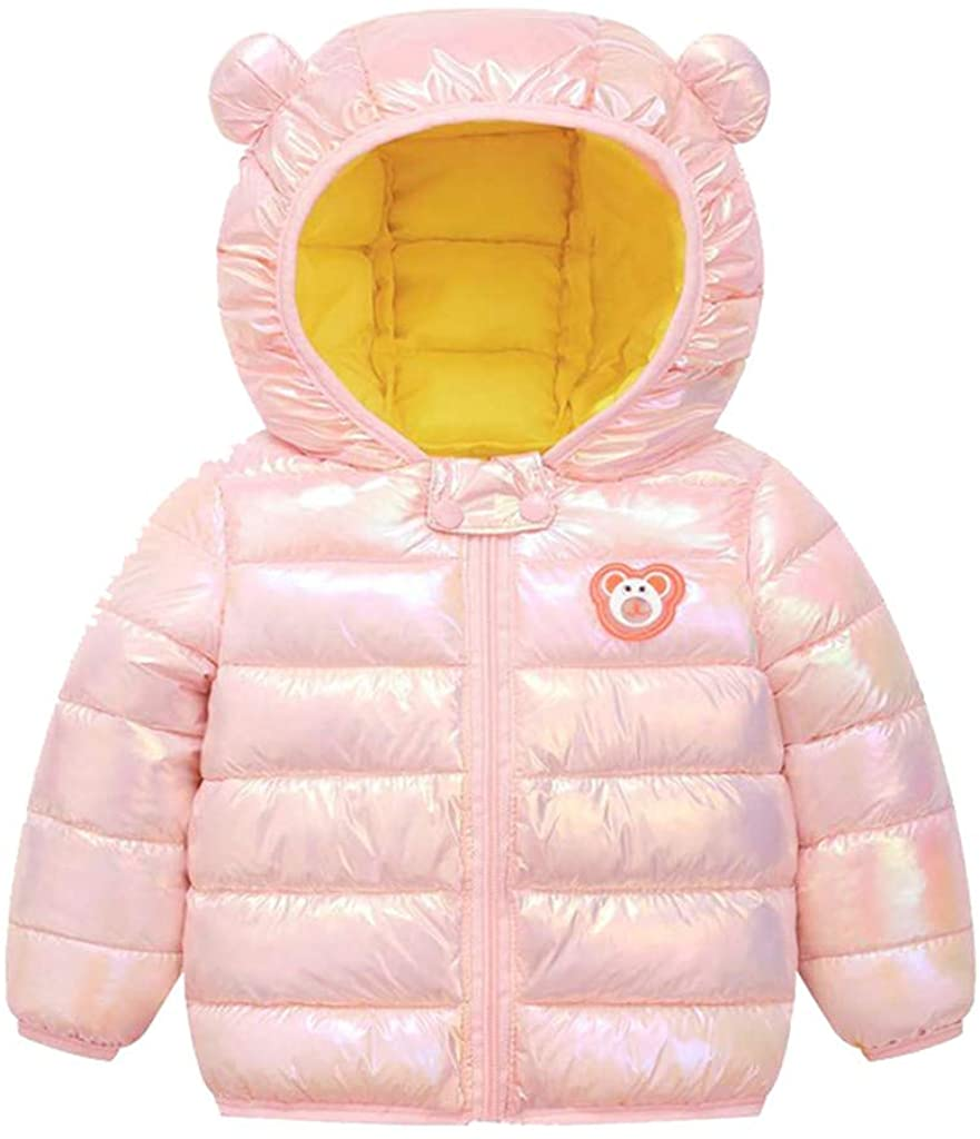 Winter Warm Coats for Toddler Baby Boys Girls Cartoon Windproof Hooded Keep Warm Puff Outwear Zipper Jacket