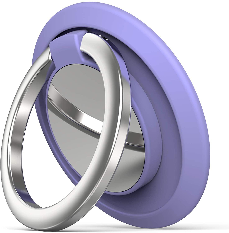 Phone Ring Holder Finger Kickstand, Cell Phone Ring Holder Finger Grip 360 Degree Rotation (Lilac)