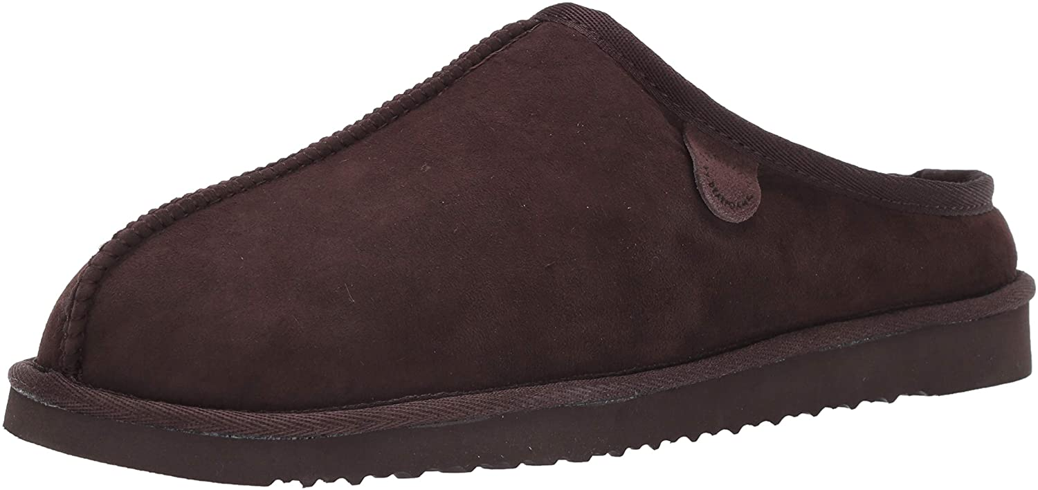 Fireside by Dearfoams Mens Clog Slipper