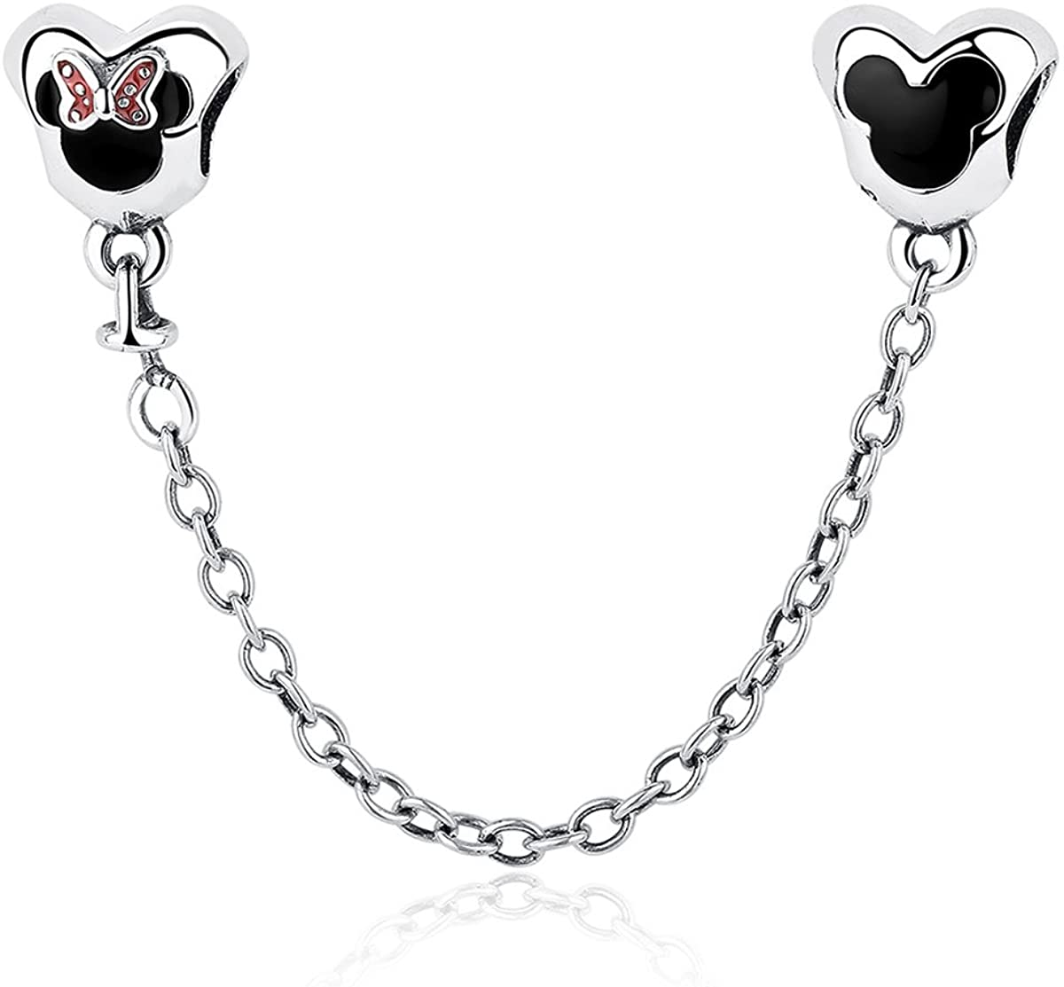 NINGAN Family & Disney Mickey & Minnie Charms for Charms Bracelet 925 Sterling Silver Beads Fit Women's Bracelets & Necklaces, Happy Birthday Charms for Women Girls Boy Men