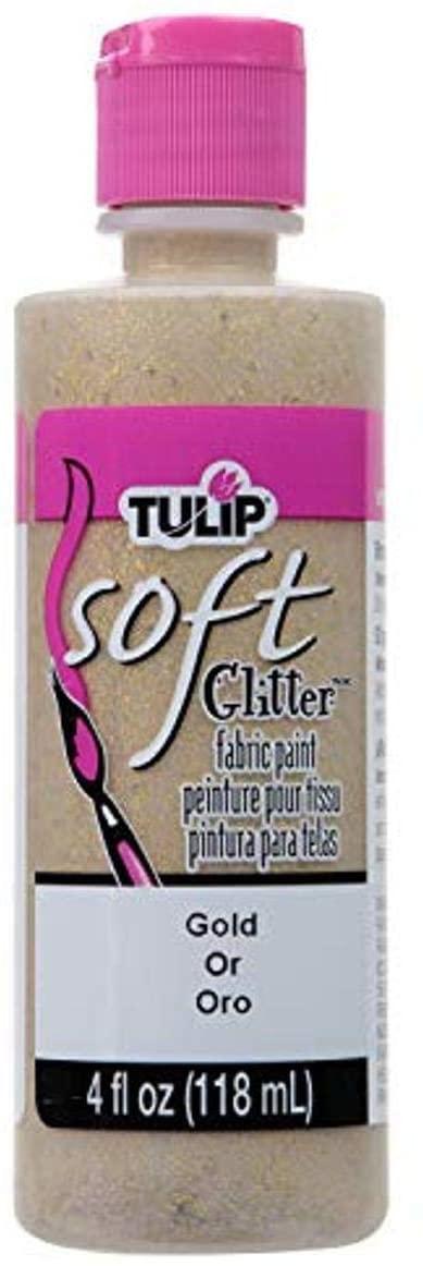 Tulip 20413 Soft Fabric Paint 4oz Glitter Gold