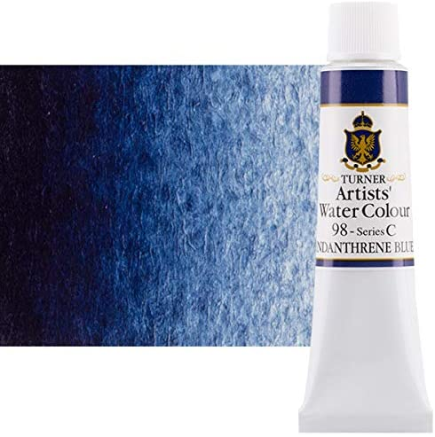 Turner Concentrated Professional Artists' Watercolor Paint 15ml Tube - Indanthrene Blue