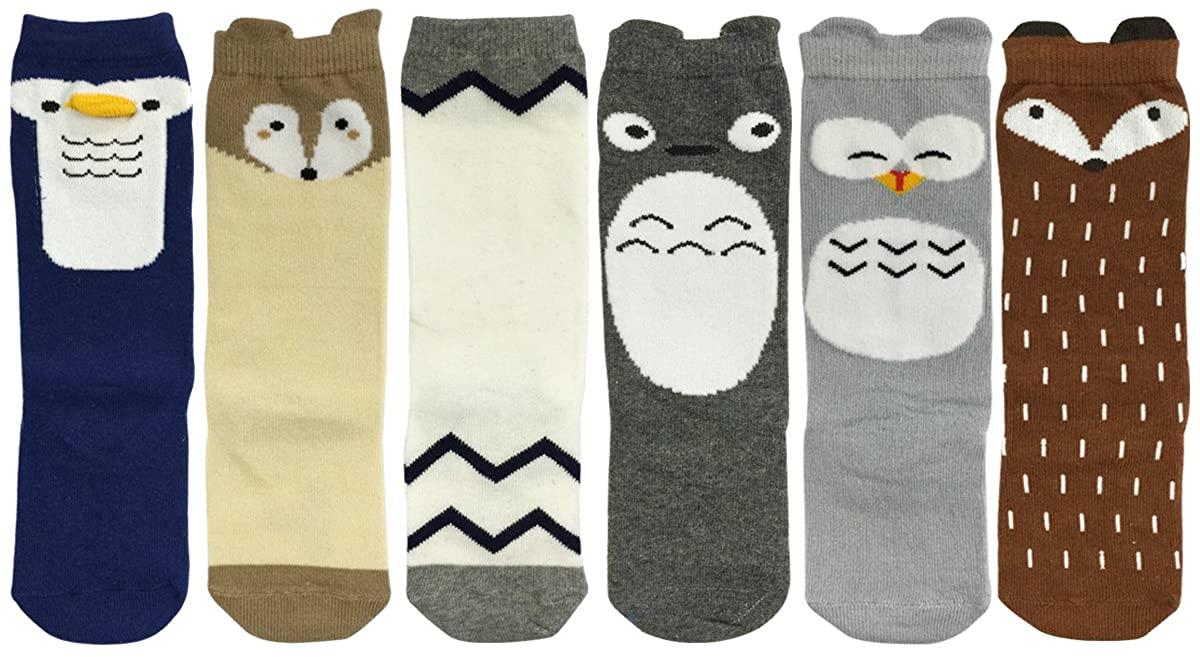 ALLYDREW Zoo Animals Tube Socks Toddler Tube Socks & Children Tube Socks (6 pairs)