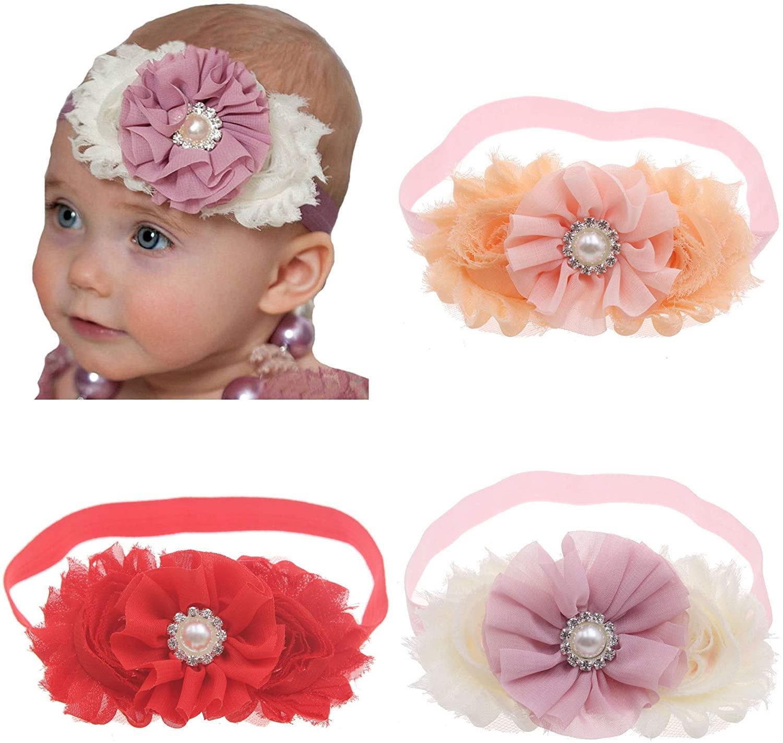 Bloomposh Baby Girls Flower Headbands 3pcs/lot