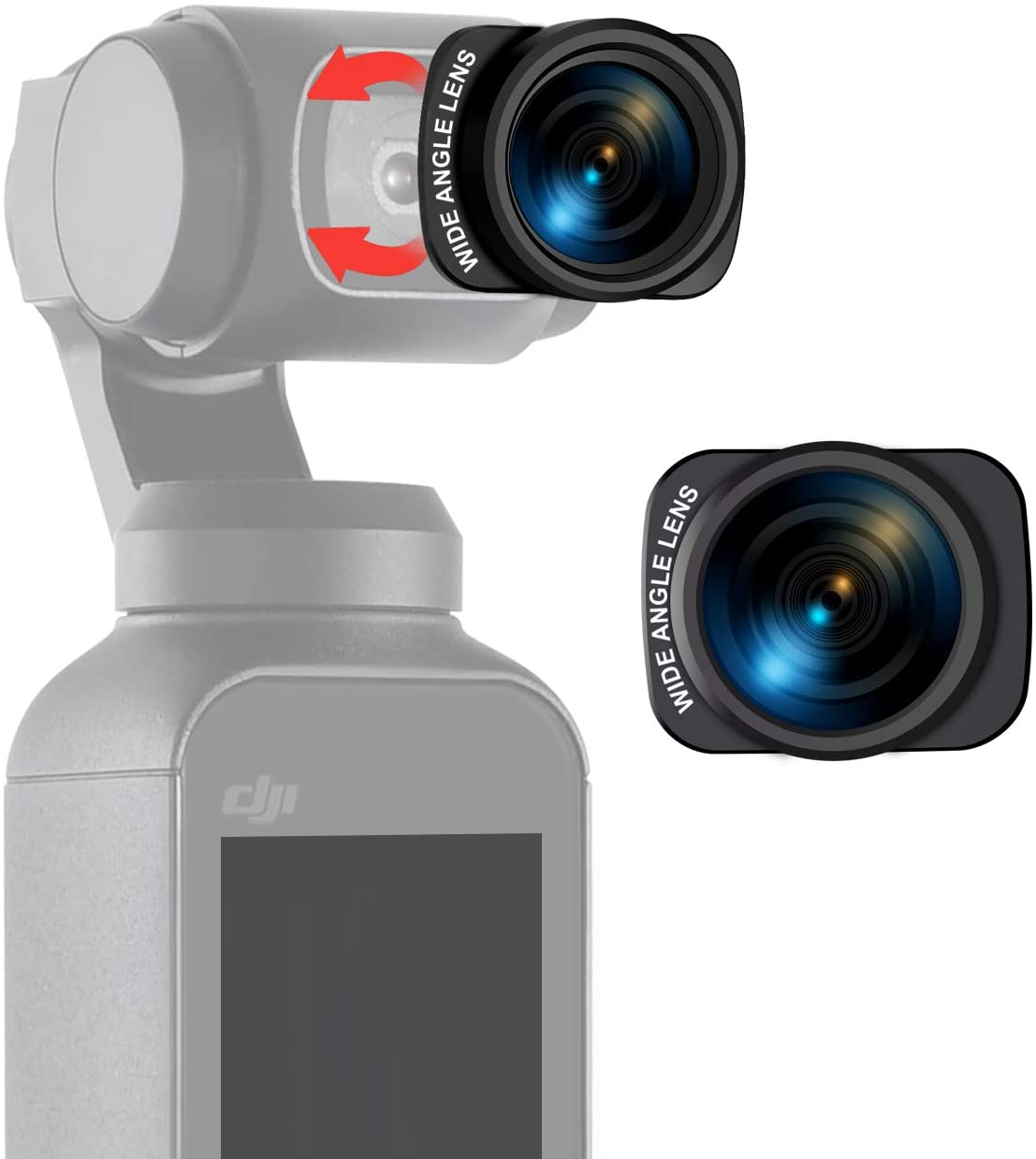 USKEYVISION OSMO Pocket Magnetic Lens for DJI OSMO Pocket Gimbal Camera (UVWL-OP1)