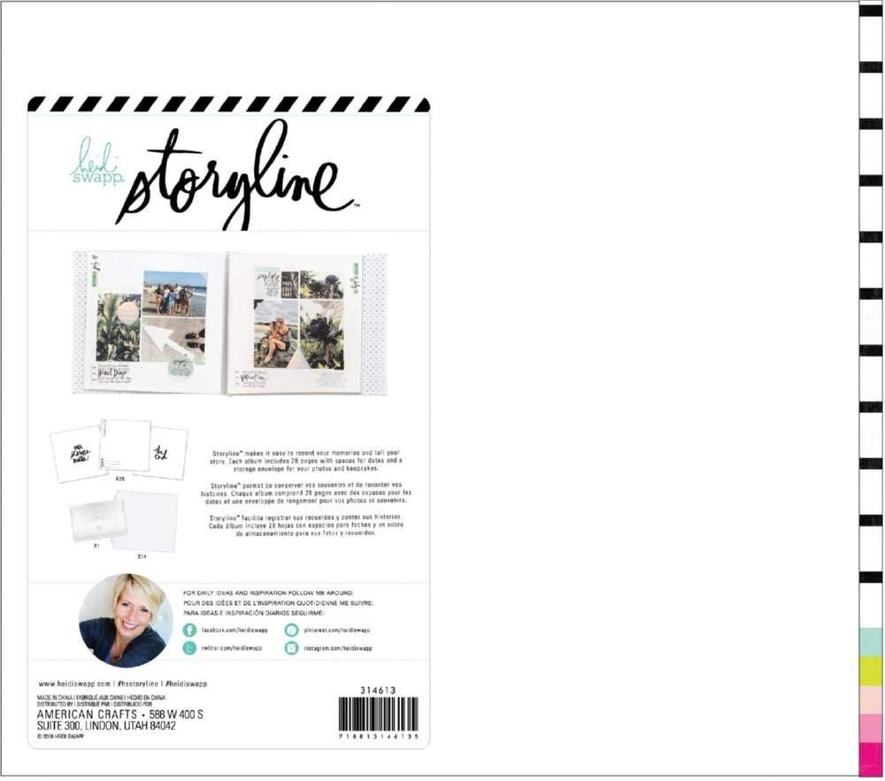 Heidi Swapp 314613 Album Storyline-12 x 12-Post Bound-Good Stuff (44 Pieces)
