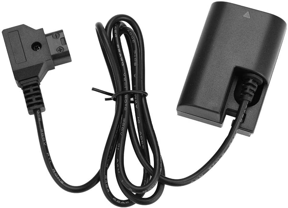 Dummy Battery Adapter,DR-E6 B Male to LP-E6N Battery Battery Power Adapter Cable Accessory for Canon 5D2/5D3/5D4/6D/6D2/7D/7D2/60D/70D/80D/5DSR for Sony V Mount Battery,Anton V Mount Battery