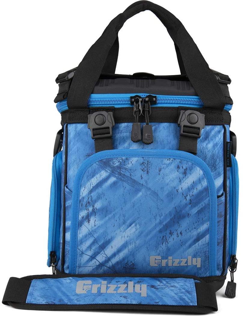 Grizzly Drifter 12+ Fliptop Soft Cooler, Realtree Fishing Blue/Black, 12 QT
