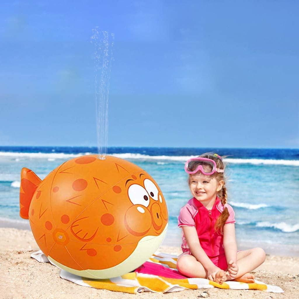 OKBOP Water Sprinkler Toys for Kids Outdoor, Large Inflatable Water Sprinkler Puffer Fish, Outdoor Water Toy Sprinkler