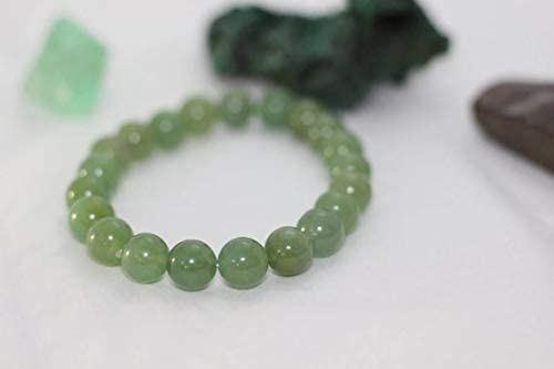 AAA++ Rare Quality Light Green Aventurine||mens natural gemstone stretch mala bracelet~10mmbeads~yoga meditation crystal stack round bead bracelet Code- WAR10652