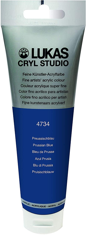Lukas Cryl Studio 125ml Premium Quality Acrylic Paint Prussian Blue
