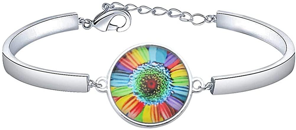 BAUNA Rainbow Gay Pride Bracelet Gay & Lesbian LGBT Pride Lesbian Gay Pride Support Gifts for Men Women