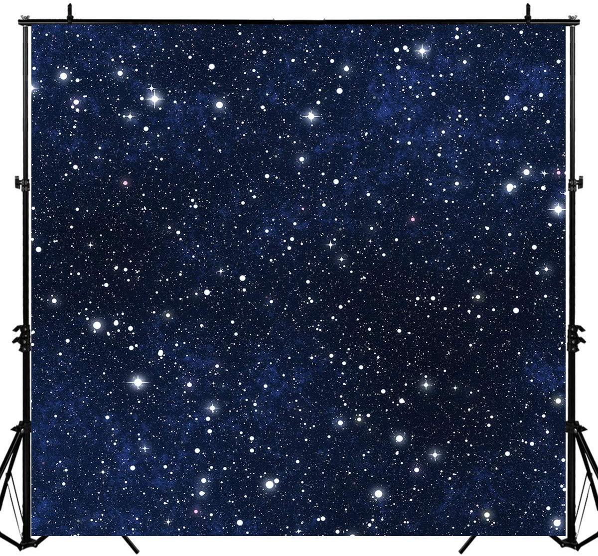 Sensfun Night Sky Star Backdrop Universe Space Theme Starry Photography Backdrops Galaxy Stars Birthday Photo Studio Booth Background 6x6ft