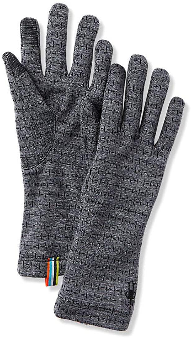 SmartWool Mens Merino 250 Pattern Glove X-Large MEDIUM GRAY TICK STITCH