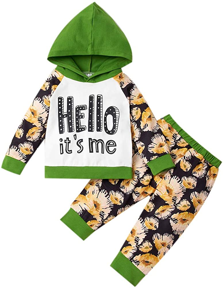 Toddler Infant Baby Clothes Set Baby Boys Girls Pants Set Long Sleeve Hoodie Tops Camouflage Sweatsuit Pants Outfit Set 0-24M