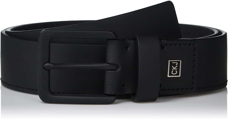 Calvin Klein Men's 35mm Rubberized Leather Belt