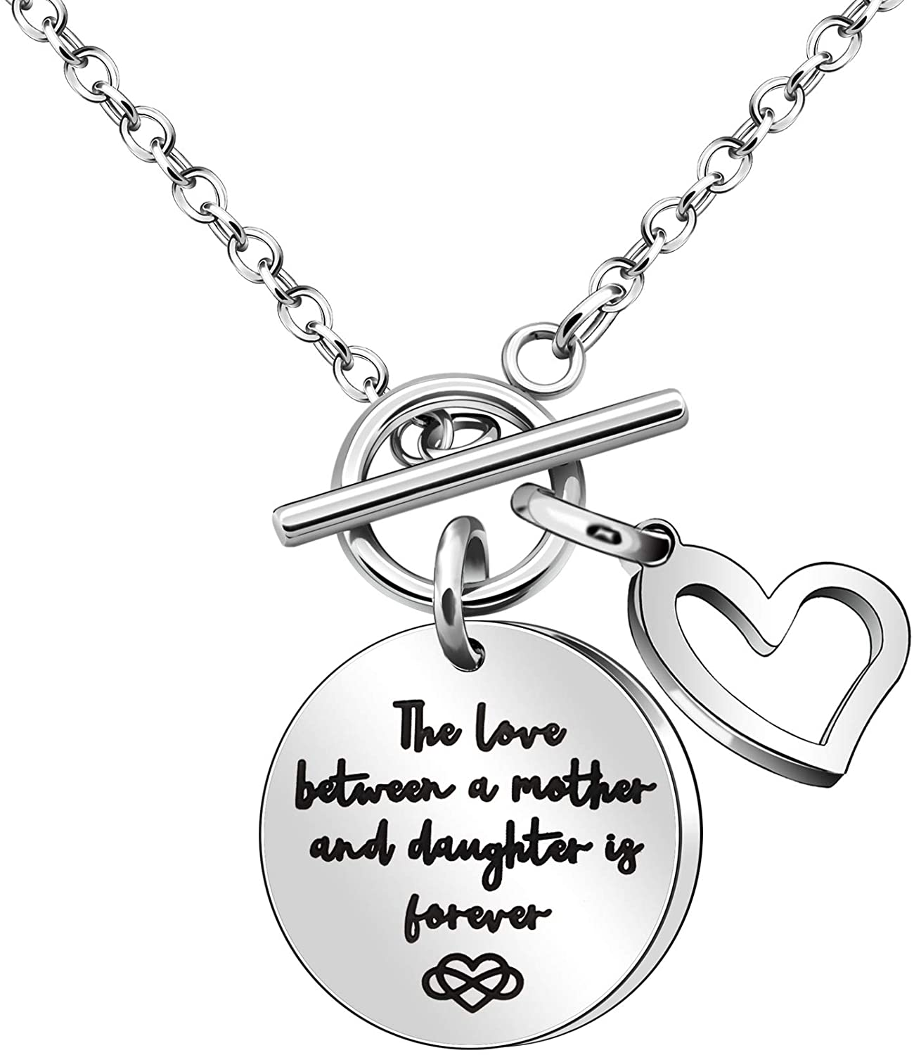 Maxforever Women Girls Gift, Mother Daughter Charm Necklace Jewellery for Mom & Daughter
