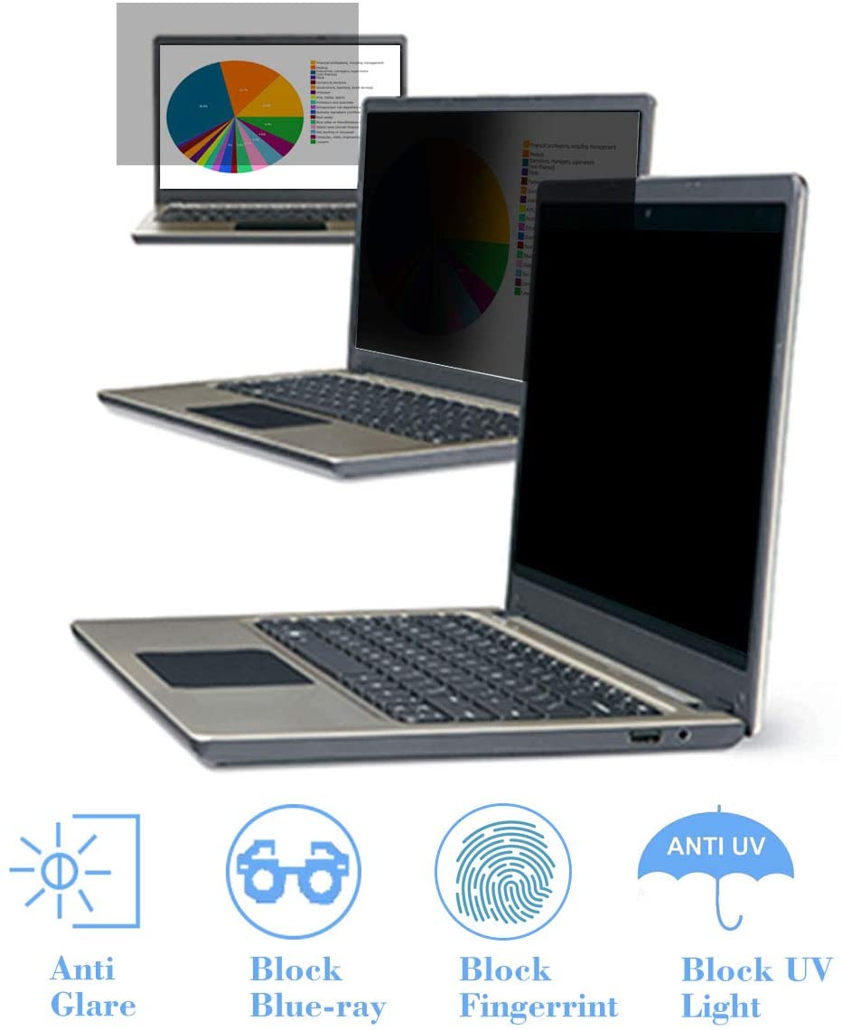 13.3 Inch Laptop Privacy Screen Filter-Anti Glare & Anti Blue Light Screen Protector for 13.3