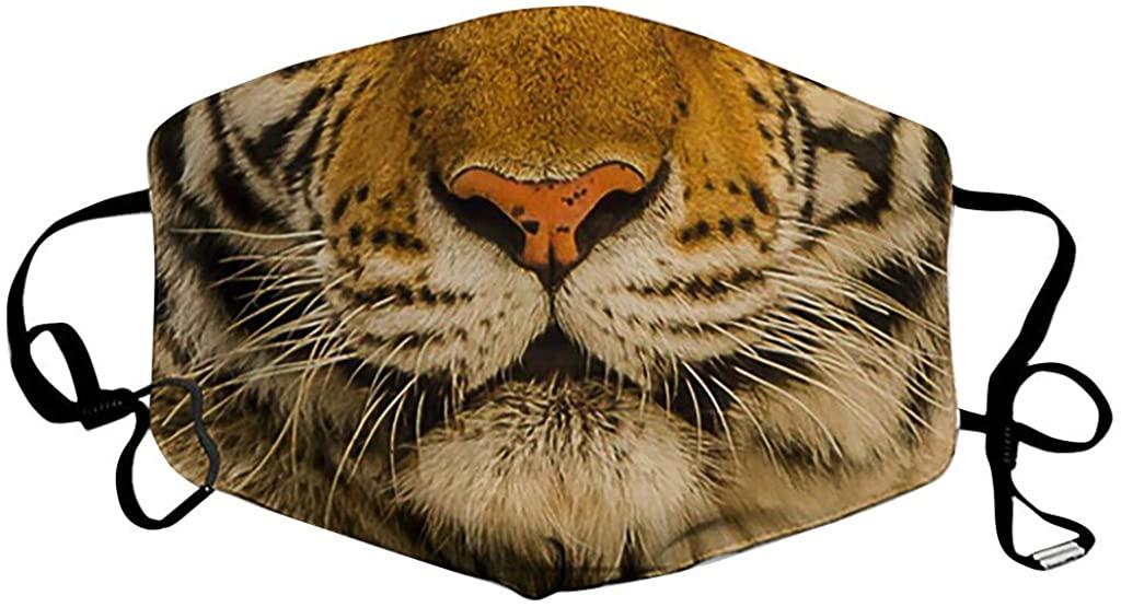 Unisex Funny Animal Print Face Health Breathable Multifunctional Cloth Macks Seamless Face Macks