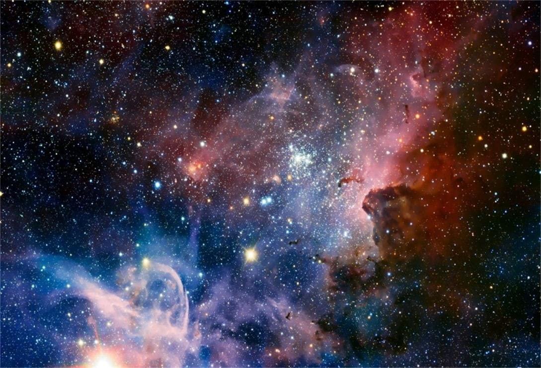 AOFOTO 6x4ft Nebula Backdrop Cosmic Galaxy Photography Background Starry Sky Universe Outer Space Science Fiction Photo Shoot Studio Props Video Drop Vinyl Wallpaper Kid Children Artistic Portrait