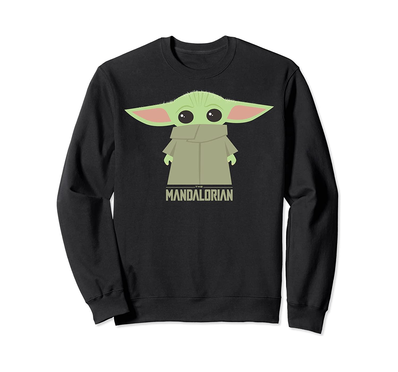 Star Wars The Mandalorian The Child Hidden Face Portrait Sweatshirt