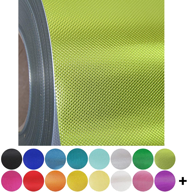Embossed Spring Green Metallic Heat Transfer Vinyl Film HTV | Two (2) 15