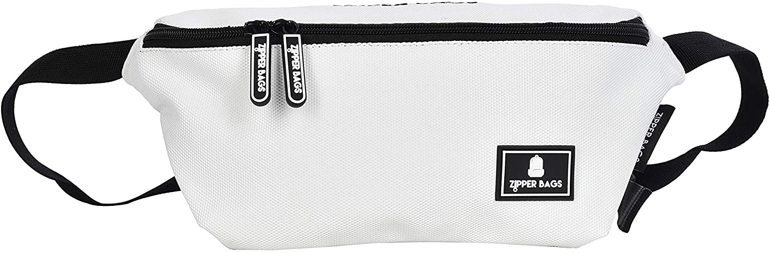 Colors Design - Snow White - Fanny Pack for Women/Men - Ultra Lightweight Belt Bag for Travel/Sports/Hiking. Waist Pack for Vacation/Outdoor,Water Resistant Waist Bag with Multi Colors.