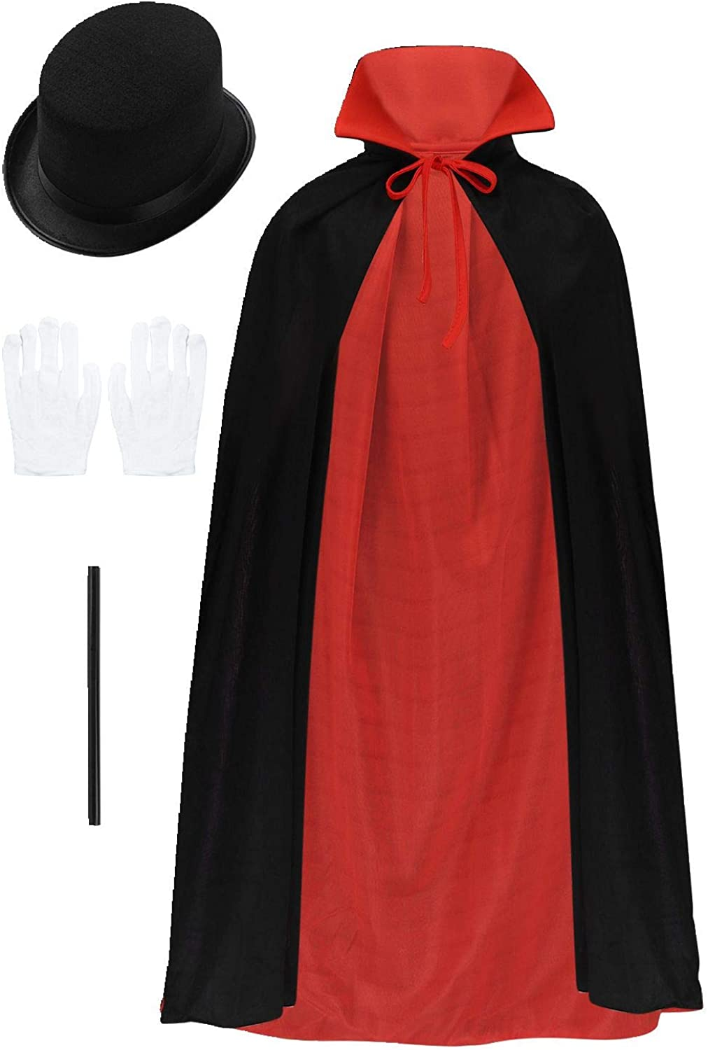 Mufeng Children Magician Costume Halloween Performance Cosplay Role Play Fancy Dress Accessories Set