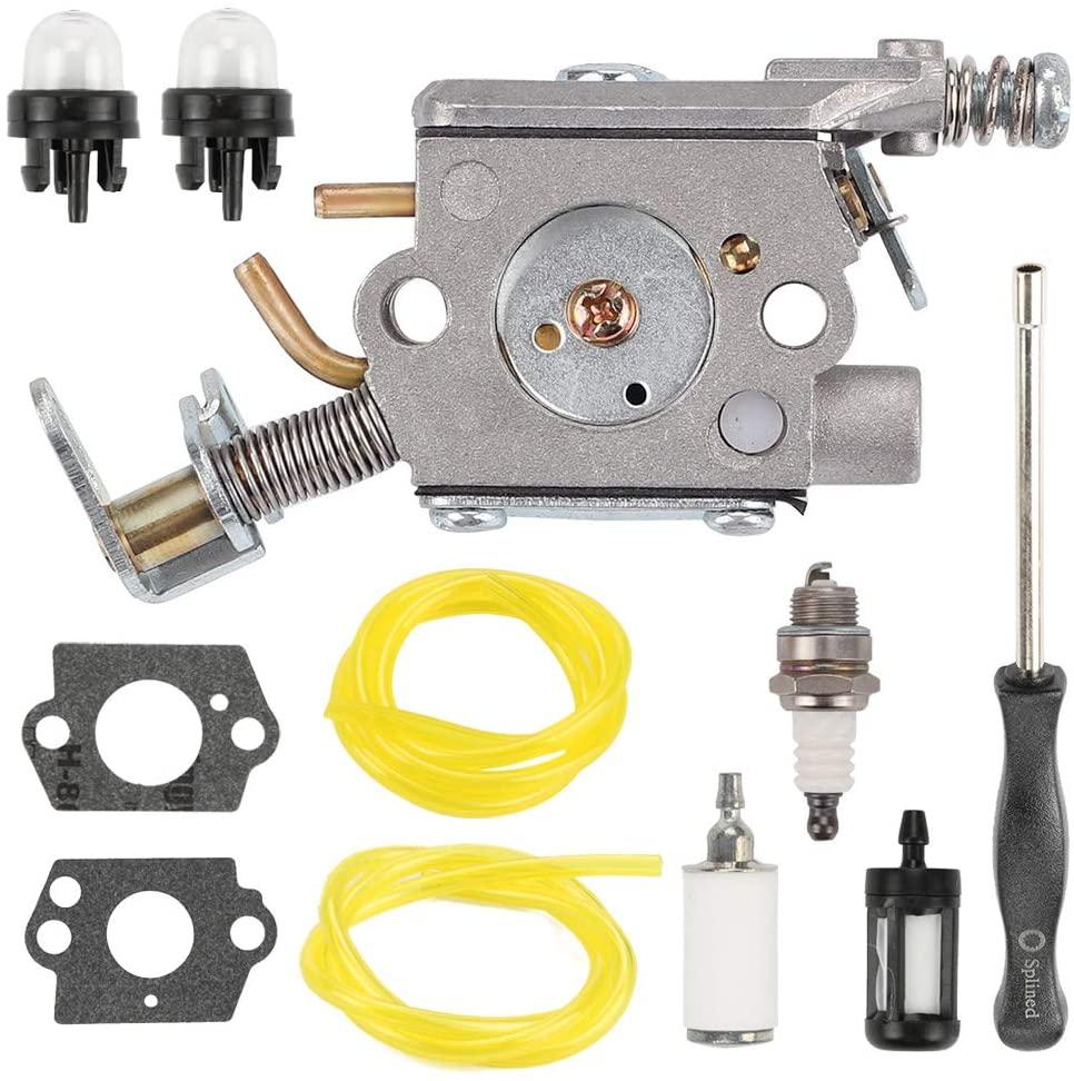 FQFP 309360002 309360001 Carburetor Kit for Ryobi RY10518 RY10519A RY10520 RY10521A Homelite UT10519 UT10522 UT10526 46cc Chainsaw Replace ZAMA C1M-H58