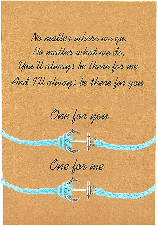 Promise Bracelet for 2 Friendship Bracelet Distance Matching Bracelets for Couples Family