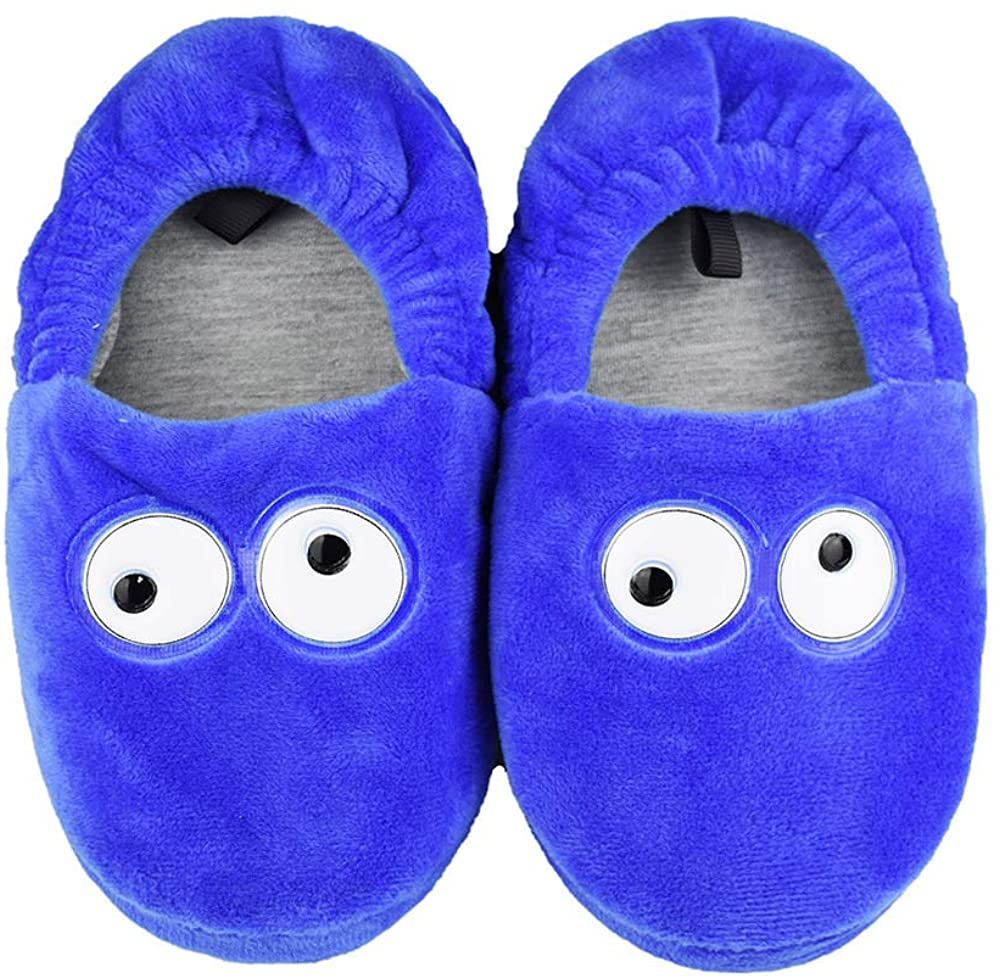 Tirzrro Little Kids Big Boys Warm Football Slippers with Soft Memory Foam Slip-on House Slippers