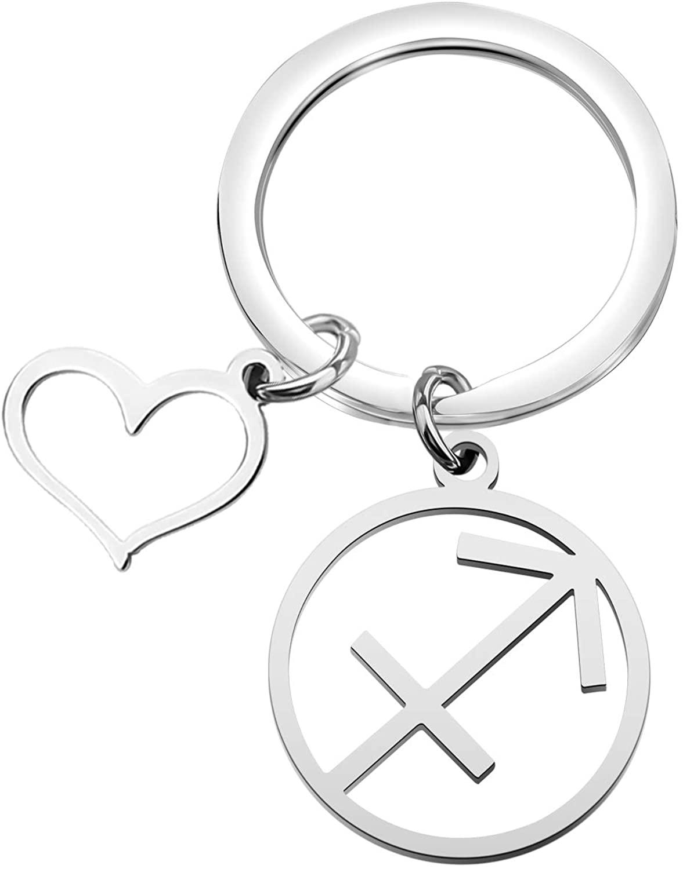 FOTAP Zodiac Sign Keychain Zodiac Constellation Keychain Horoscope Gift Astrology JewelryGraduationGiftideas Zodiac Sign Gift