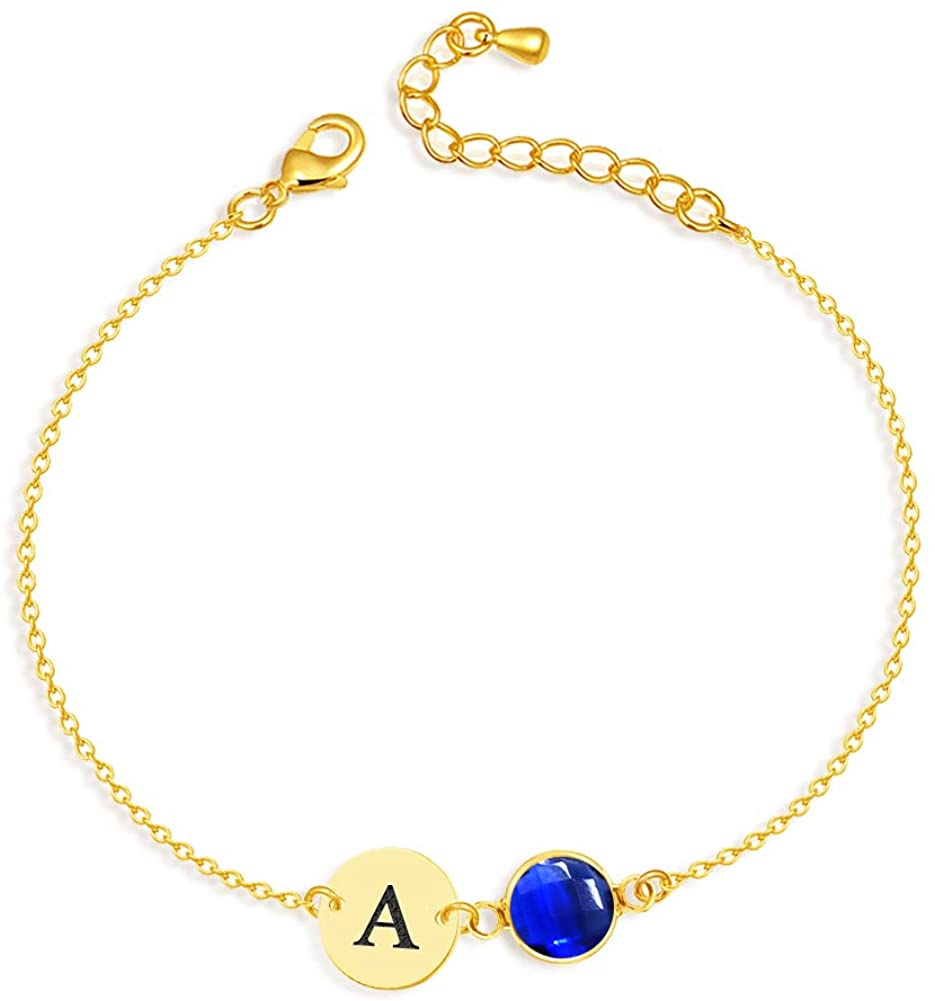 YoPicks Personalized Initial Anklet Bracelet, 18K Gold Plated Custom Name Anklet Summer Beach Anklet for Women