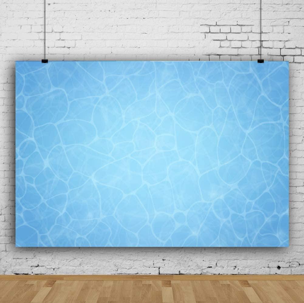 Baocicco 10x6.5ft Cartoon Blue Sea Water Backdrop Blue Water Backdrop for Photography Cartoon Underwater Party Backdrop Happy Birthday Backdrop Holiday Photo Shooting Prop Photo Booth