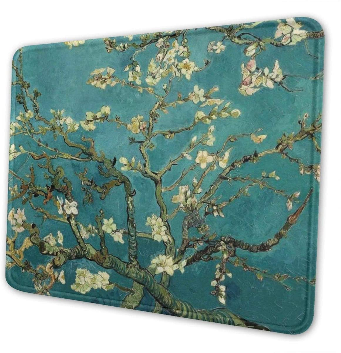 Mouse Pad, Apricot Flowers01 Mouse Mat, Waterproof Office Mouse Pad