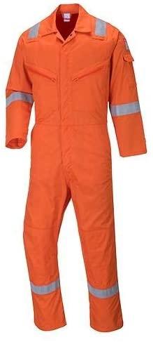 Portwest C814ORR6XL, Iona Cotton Coverall, 6X-Large, Orange (Pack of 5 pcs)