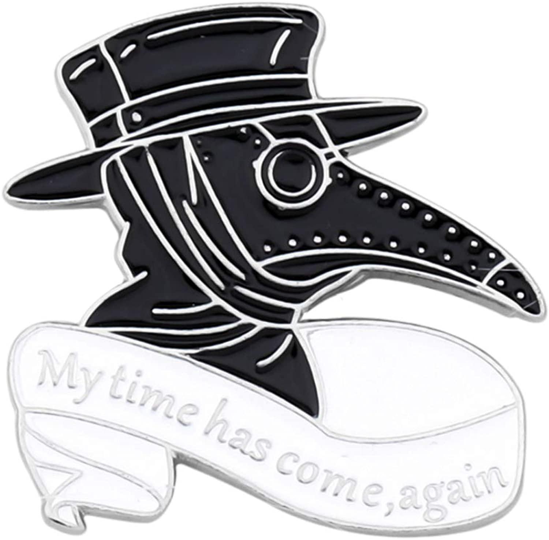 AKTAP Plague Doctor Gifts Plague Doctor Enamel Pin Wash Your Damn Hands Beak Face Brooches Cosplay Steampunk Ideas