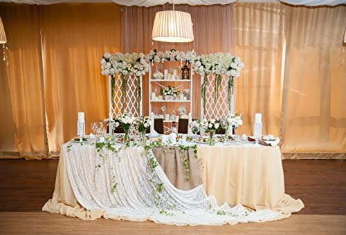 Baocicco Wedding Table Decoration Backdrop 10x7ft Photography Background Flower Bouquet Candles Roses Curtains Wedding Floor Wedding Ceremony Wedding Party